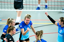 Marianne het Lam-Scholten of Zwolle celebrate during the first league match between Djopzz Regio Zwolle Volleybal - Laudame Financials VCN on February 27, 2021 in Zwolle.