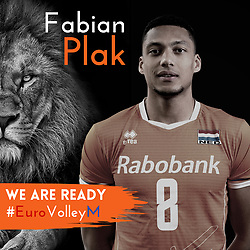 Fabian Plak of Netherlands, Photoshoot selection of Orange men's volleybal team season 2021on may 11, 2021 in Arnhem, Netherlands (Photo by RHF Agency/Ronald Hoogendoorn)