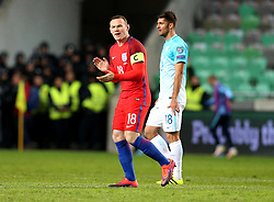 Wayne Rooney of England gives encouragement to his teammates on entering the pitch - Mandatory by-line: Robbie Stephenson/JMP - 11/10/2016 - FOOTBALL - RSC Stozice - Ljubljana, England - Slovenia v England - World Cup European Qualifier
