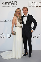 Vivian Sibold (L) and Nico Rosberg arrive at the amfAR Gala Cannes 2018 at Hotel du Cap-Eden-Roc on May 17, 2018 in Cap d'Antibes, France. Photo by Shootpix/ABACAPRESS.COM