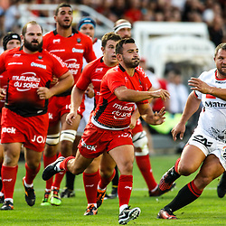 Eric Escape of Toulon during the pre-season match between Rc Toulon and Lyon OU at Felix Mayol Stadium on August 17, 2017 in Toulon, France. (Photo by Guillaume Ruoppolo/Icon Sport)
