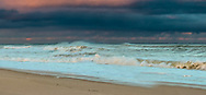The sun crept under the clouds for a few moments on a November afternoon at Nauset Beach.
