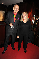 MR & MRS NAIM ATTALLAH at a party to celebrate the publication of Catherine Blyth's book 'The Art of Conversation' held at Ralp Lauren, Bond Street, London on 4th November 2008.