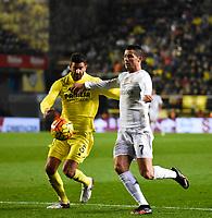 Villarreal CF's Musacchio and Real Madrid's Cristiano Ronaldo during La Liga match. December 13, 2015. (ALTERPHOTOS/Javier Comos)