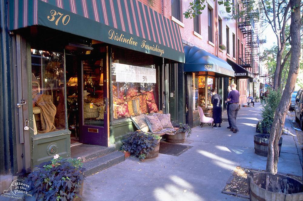 Antique Store, along Bleecker Street in the 1990's, Greenwich Village, Manhattan, New York