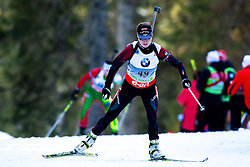 JUSKANE Zanna of Latvia during Women 7.5 km Sprint of the e.on IBU Biathlon World Cup on Thursday, March 6, 2014 in Pokljuka, Slovenia. The first e.on IBU World Cup stage is taking place in Rudno polje - Pokljuka, Slovenia until Sunday March 9, 2014. Photo by Matic Klansek Velej / Sportida