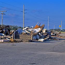 Hurricane damage in the keys