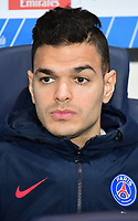 Hatem Ben Arfa of PSG on the bench for the French Ligue 1 match between Paris Saint Germain and Toulouse at Parc des Princes on February 19, 2017 in Paris, France. (Photo by Dave Winter/Icon Sport)