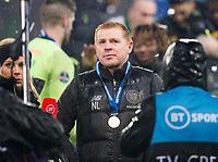 Football - 2019 Betfred Scottish League Cup Final - Celtic vs. Rangers<br /> <br /> Celtic manager Neil Lennon at full time, Hampden Park Glasgow.<br /> <br /> COLORSPORT/BRUCE WHITE