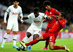 Serge Aurier of Tottenham Hotspur is fouled by Thiago Alcantara of Bayern Munich - Rogan/JMP - 01/10/2019 - FOOTBALL - Tottenham Hotspur Stadium - London, England - Tottenham Hotspur v Bayern Munich - UEFA Champions League Group B.