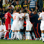 Marseille's players celebrates his goal during their UEFA Europa League Group Stage Group C soccer match Fenerbahce between Marseille at Sukru Saracaoglu stadium in Istanbul Turkey on Thursday 20 September 2012. Photo by TURKPIX