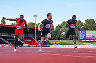 Sam GORDON, Kyle DE ESCOFET and Kaie CHAMBERS-BROWN in the Men's 100m Final during the Muller British Athletics Championships at Alexander Stadium, Birmingham, United Kingdom on 24 August 2019.