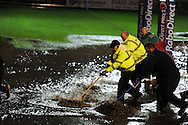RaboDirectPro12 rugby, Newport Gwent Dragons v Cardiff Blues at Rodney Parade in Newport on Friday 4th November 2011. The match is called off due to standing water on the pitch. pic by Andrew Orchard, Andrew Orchard sports photography