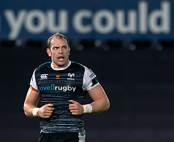 Alun Wyn Jones of Ospreys<br /> <br /> Photographer Simon King/Replay Images<br /> <br /> Guinness PRO14 Round 11 - Ospreys v Scarlets - Saturday 22nd December 2018 - Liberty Stadium - Swansea<br /> <br /> World Copyright © Replay Images . All rights reserved. info@replayimages.co.uk - http://replayimages.co.uk