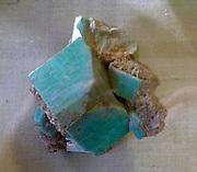 Amazon Stone' Manebach-twin group Crystal Peak, Colorado.