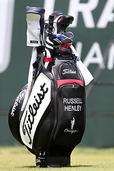 June 24, 2018 - Cromwell, Connecticut, United States - Russell Henley's golf bag on the first tee during the final round of the Travelers Championship at TPC River Highlands. (Credit Image: © Debby Wong via ZUMA Wire)