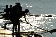 Essen, GERMANY, General views, GV's, Boating Area, German U17 and U23, Regatta,  Essen Baldeneysee.   , training outing. Saturday  26/06/2010  [Mandatory Credit Peter Spurrier/ Intersport Images], , Sunrise, Sunsets, Silhouettes
