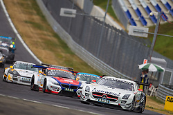 10.08.2013, Red Bull Ring, Spielberg, AUT, ADAC GT Masters, 1. Rennen, im Bild Polarweiss Racing, (#10, Maximilian Buhl, GER und Maximilian Goetz, GER), DB Motorsport, (#12, Simon Knap, NED und Jeroen den Boer, NED), Tonino powered by Herberth Motorsport, (#8, Robert Renauer, GER ind Martin Ragginger, AUT) // during the ADAC GT Masters 1st race day at the Red Bull Ring in Spielberg on August 10th 2013, EXPA Pictures © 2013, PhotoCredit: EXPA/ Mario Kuhnke
