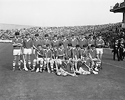 07/09/1969<br /> 09/07/1969<br /> 7 September 1969<br /> All-Ireland Minor Final: Kilkenny v Cork at Croke Park, Dublin. <br /> The Cork minor hurling team who won the match.