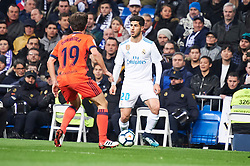 Real Madrid and Real Sociedad at Santiago Bernabeu on February 10, 2018 in Madrid, Spain. 10 Feb 2018 Pictured: Alvaro Odriozola (defender; Real Sociedad), Marco Asensio (midfielder; Real Madrid). Photo credit: MEGA TheMegaAgency.com +1 888 505 6342
