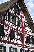 Half-timbered house in Schaffhausen, Switzerland, Europe.