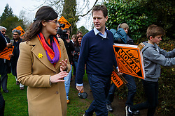© Licensed to London News Pictures. 29/03/2015. Abingdon, UK. Liberal Democrat leader Nick Clegg launches his party's general election campaign at Albert Park in Abingdon on Sunday, 29 March 2015. Photo credit : Tolga Akmen/LNP