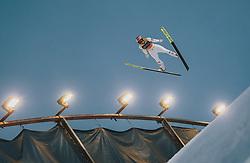 29.02.2020, Salpausselkae Hill, Lahti, FIN, FIS Weltcup Ski Sprung, Herren, Teamspringen, im Bild Stefan Kraft (AUT) // Stefan Kraft of Austria during the men's team event of FIS Ski Jumping World Cup at the Salpausselkae Hill in Lahti, Finland on 2020/02/29. EXPA Pictures © 2020, PhotoCredit: EXPA/ JFK