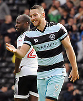 Football - 2016 /2017 Championship - Fulham vs Queens Park Rangers<br /> <br /> Conor Washington of QPR celebrates scoring goal no.1 at Craven Cottage<br /> <br /> Credit : Colorsport / Andrew Cowie