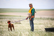 SHOT 5/9/20 1:10:07 PM - Various pointing breeds compete in the Vizsla Club of Colorado Licensed Hunt Test Premium at the Rocky Mountain Sporting Dog Club Grounds in Keenesburg, Co. (Photo by Marc Piscotty / © 2020)