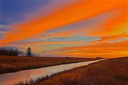 Dawn sky on Cooks Creek<br /> Dugald<br /> Manitoba<br /> Canada