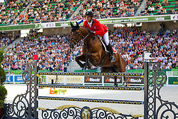 Steve Guerdat, (SUI), Nino Des Buissonnets, World Champions, - Second Round Team Competition - Alltech FEI World Equestrian Games™ 2014 - Normandy, France.<br /> © Hippo Foto Team - Leanjo De Koster<br /> 25/06/14
