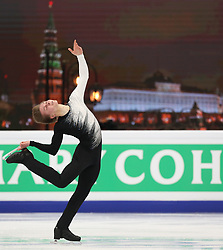 January 17, 2018 - Moscow, Russia - Figure skater Mikhail Kolyada of Russia performs his short program during a men's singles competition at the 2018 ISU European Figure Skating Championships, at Megasport Arena in Moscow, Russia  on January 17, 2018. (Credit Image: © Igor Russak/NurPhoto via ZUMA Press)