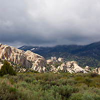 USA, Idaho, Castle Rock State Park, on the City of Rocks Back Country Scenic Byway, Idaho.