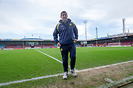 Burton Albion Manager Nigel Clough on the pitch prior to kick off during the The FA Cup 1st round match between Scunthorpe United and Burton Albion at Glanford Park, Scunthorpe, England on 10 November 2018.