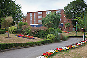 One of the prison blocks behind the prison garden at HMP Holloway, the main womens prison in London.