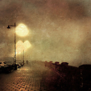 Foggy night on Cowes Parade.<br /> <br /> Taken with iPhone7plus camera and edited in phone. <br /> <br /> If this is Turneresque, it would be apt, as there is a Turner painting of Cowes in the British Museum.