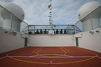 Celebrity Solstice Launch, Miami, Florida..Sports Pitch