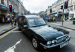 A hearse is parked outside the Assembly Rooms on George Street posing the question if we are nearing the death of the Edinburgh Fringe?