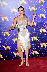 Katya Jones arriving at the red carpet launch of Strictly Come Dancing 2019, held at BBC TV Centre in London, UK.