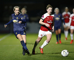 February 7, 2019 - London, England, United Kingdom - Millie Turner of Manchester United Women .during FA Continental Tyres Cup Semi-Final match between Arsenal and Manchester United Women FC at Boredom Wood on 7 February 2019 in Borehamwood, England, UK. (Credit Image: © Action Foto Sport/NurPhoto via ZUMA Press)