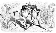 The Two Frogs from  AEsop's fables Illustrated by Joseph Benjamin Rundell, and published in London and New York by Cassell Petter and Galpin in 1869