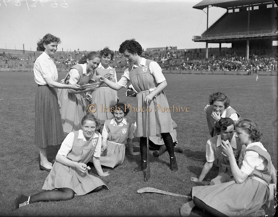 Camogie - All Ireland Senior Final at Croke Park - Dublin vs. Tipperary. Dublin are victorious..02/08/1953