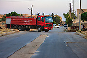A fire rescue truck is seen driving out and about the city of Marea on Wednesday, June 27, 2012. (Photo by Vudi Xhymshiti)