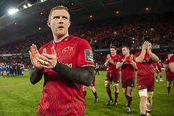 December 30, 2018 - Limerick, Ireland - Keith Earls of Munster celebrates during the Guinness PRO14 match between Munster Rugby and Leinster Rugby at Thomond Park in Limerick, Ireland on December 29, 2018  (Credit Image: © Andrew Surma/NurPhoto via ZUMA Press)