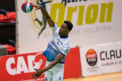 Jerome Cross of Lycurgus in action during the league match between Active Living Orion vs. Amysoft Lycurgus on March 20, 2021 in Doetinchem.