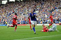 Photo: Tony Oudot/Richard Lane Photography. Leicester City v Barnsley. Coca Cola Championship. 22/08/2009. <br /> GOAL! Matty Fryatt scores the first goal for Leicester City