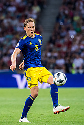 June 24, 2018 - Adler, Russia - 180624 Ludwig Augustinsson of Sweden during the FIFA World Cup group stage match between Germany and Sweden on June 24, 2018 in Adler..Photo: Petter Arvidson / BILDBYRÃ…N / kod PA / 87728 (Credit Image: © Petter Arvidson/Bildbyran via ZUMA Press)