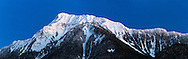 Panorama of Mount Cheam during Blue Hour from Agassiz, British Columbia, Canada