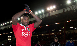 Bristol City's Jay Emmanuel-Thomas - Photo mandatory by-line: Dougie Allward/JMP - Mobile: 07966 386802 - 29/01/2015 - SPORT - Football - Bristol - Ashton Gate - Bristol City v Gillingham - Johnstone Paint Trophy