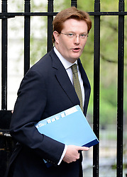 © Licensed to London News Pictures. 08/05/2012. Westminster, UK. Chief Secretary to the Treasury DANNY ALEXANDER. Ministers on Downing Street today 8th May 2012. Photo credit : Stephen Simpson/LNP